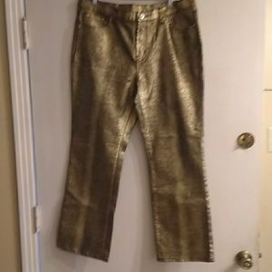 Diane Gilman Gold metallic pants